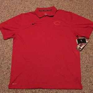 New Nike Cincinnati Reds Dri-Fit Polo Shirt XXL